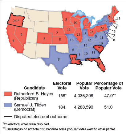 map 142 the election of 1876 the presidential election of 1876 got swept up in reconstruction politics democrats defeated republicans in florida