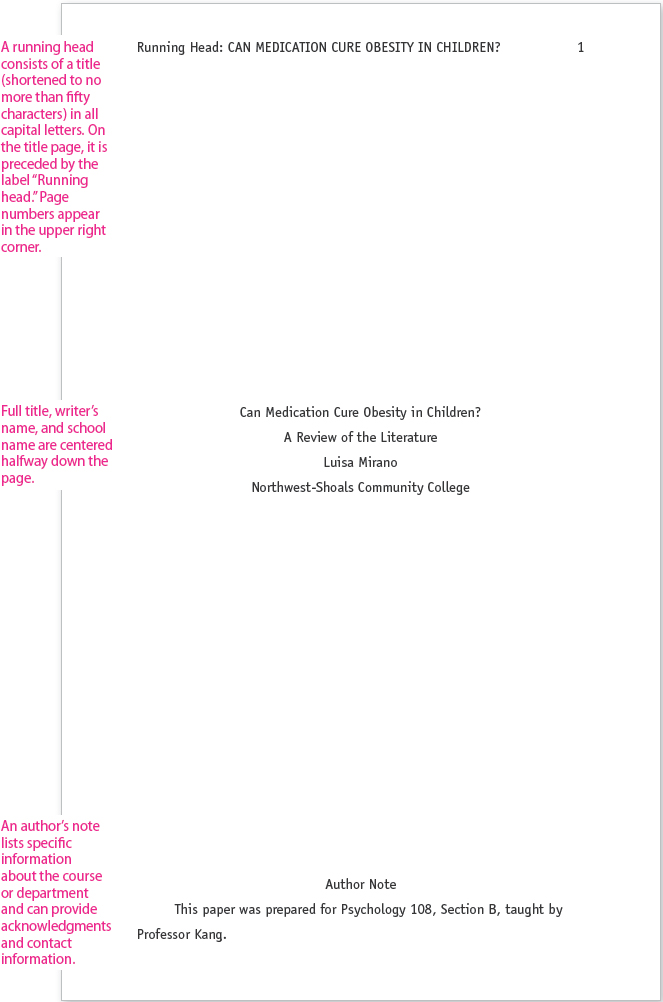 Literature review title page example how to write chinese on touchpad
